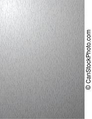 Un fondo de metal plateado