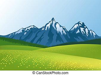 Un fondo de montaña