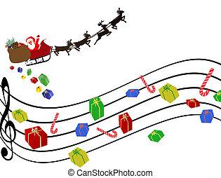 Un fondo de Navidad musical
