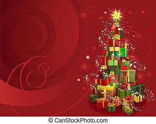 Un fondo de Navidad rojo