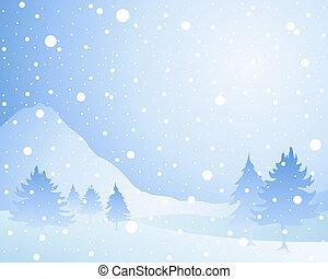 Un fondo de nieve