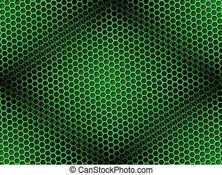 Un fondo de panal verde sin manchas