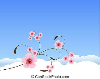 Un fondo de primavera floral