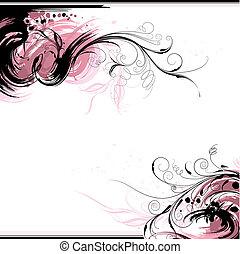 Un fondo de tinta floral