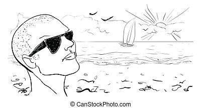 Un fondo de verano. Desenfundado. Ilustración del vector