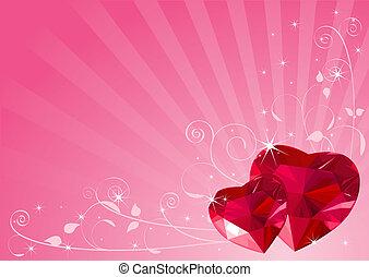 Un fondo del corazón de Valentine