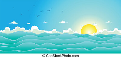 Un fondo del océano de verano