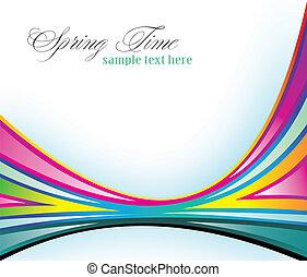 Un fondo delicado con colores arco iris