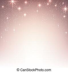 Un fondo estrellado de Navidad con destellos.