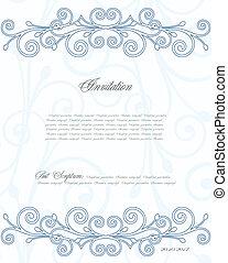 Un fondo floral azul para diseño. Vector
