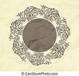 Un fondo floral con cuadro