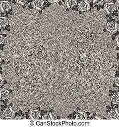 Un fondo floral con texto grunge