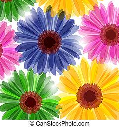 Un fondo floral de fantasía