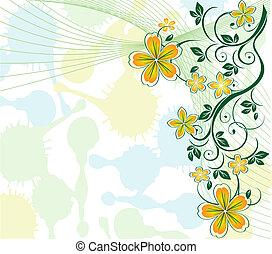 Un fondo floral de Pastel