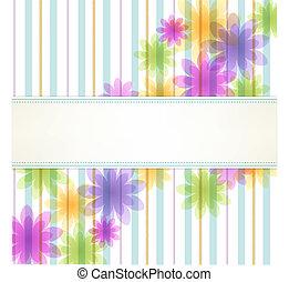 Un fondo floral de rayas