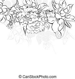Un fondo floral decorativo
