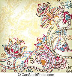 Un fondo floral oriental