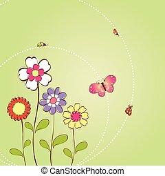 Un fondo floral primaveral