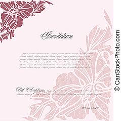 Un fondo floral rosa para diseño. Vector