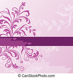 Un fondo floral rosado con estandarte