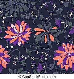Un fondo floral sin semen