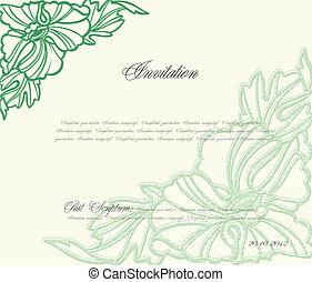 Un fondo floral verde para diseño. Vector
