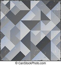Un fondo geométrica del monocromo