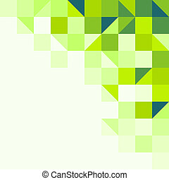 Un fondo geométrico verde