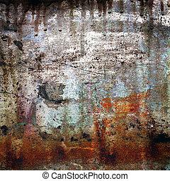 Un fondo grunge de color oxidado