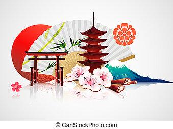Un fondo japonés tradicional