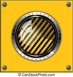 Un fondo metálico abstracto amarillo