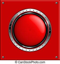 Un fondo metálico abstracto rojo