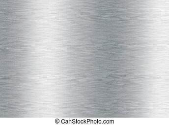 Un fondo metálico plateado