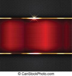 Un fondo metálico rojo