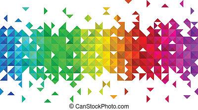 Un fondo mosaico triángulo