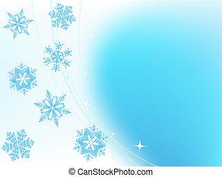 Un fondo navideño con copos de nieve