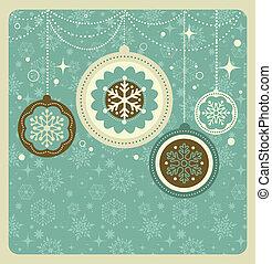Un fondo navideño con un patrón retro