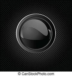 Un fondo negro con botón