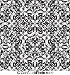 Un fondo negro floral