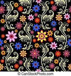 Un fondo negro sin manchas florales