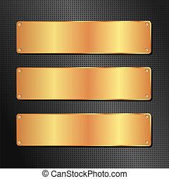 Un fondo negro y dorado