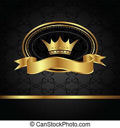 Un fondo real con marco dorado