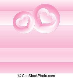 Un fondo romántico rosa. Temperatura del vector