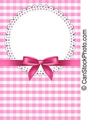Un fondo rosa con servilleta
