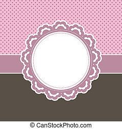 Un fondo rosa decorativo