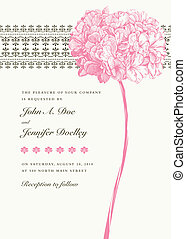 Un fondo rosa floral del vector
