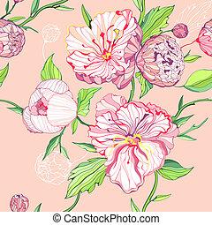 Un fondo rosa sin sentido con peonía