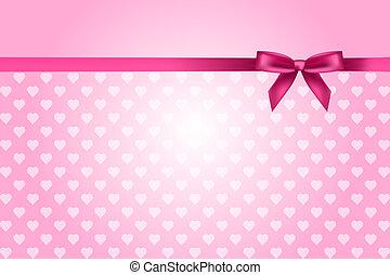 Un fondo rosado con corazones