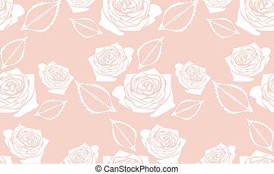 Un fondo rosado sin costura con rosas