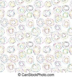 Un fondo sin color con círculos y puntos